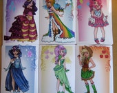 My Little pony humanized Gala dresses prints