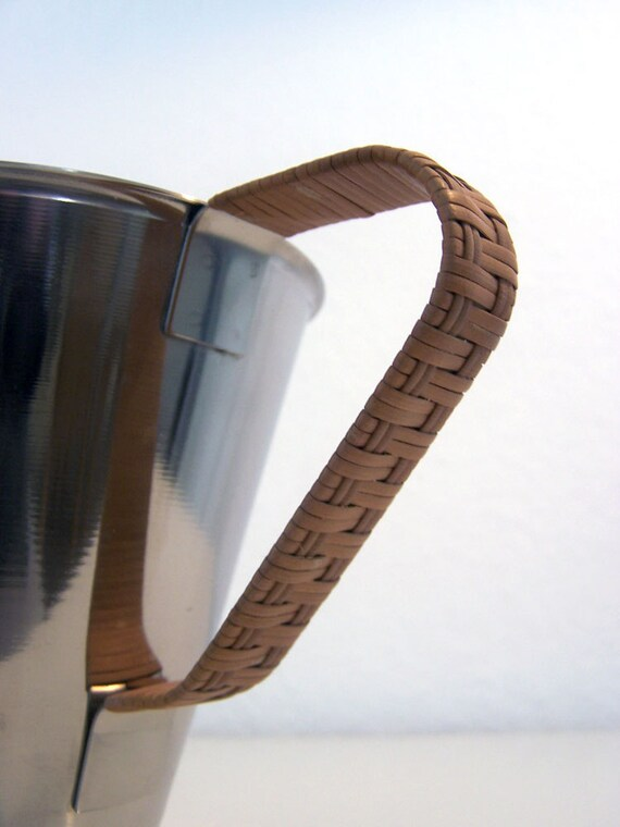 RESERVED // Vintage // Never used // Pitcher // Rattan // Stainless Steel // Denmark