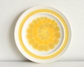 Vintage Yellow Plates Retro Lemon Pattern Ceramic Plates - Set of 2