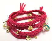 Lovely. Brand New. Fashion Braid Soft Leather Bracelets Wristbands. Nice jewelry fit ladies. Ships from Los Angeles Immediately.