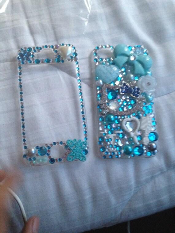 Blue Hello Kitty Bling Case