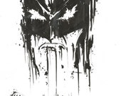 Batman - The Dark Knight - original, one off, A4 sketch