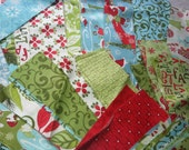 12 Days of Christmas jelly roll scraps