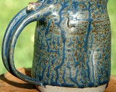 Stoneware Elf Hand MUG with Blue Ash Glaze