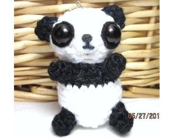 Crochet Panda Keychain