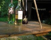 HANGING TABLE- Repurposed Old barn wood hay DOOR- Home Decor, Wedding Decor, Wood Store Display