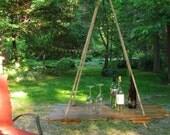 HANGING TABLE- Old barn wood hay DOOR- Wedding Decor, Photo prop,Wedding Gift,Birthday Gift,Unique Gift