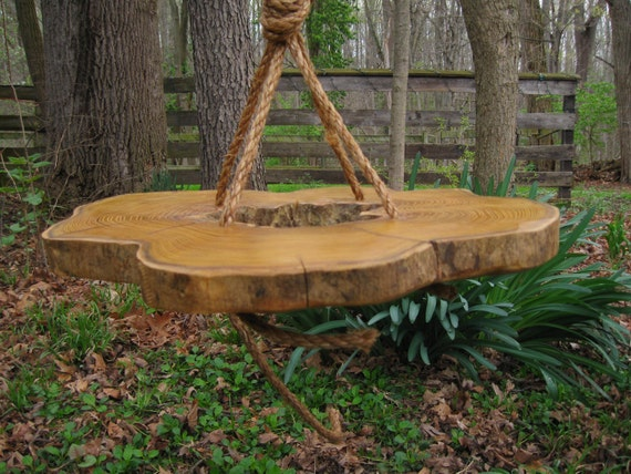 Poplar Wood Hanging Table- totally unique, one of a kind, handmade hanging table made by Jess