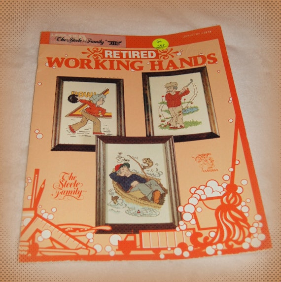 Retired Working Hands - Cross Stitch Pattern Book