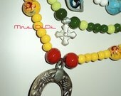 HORSE'S AMULET - Handmade - Order your colors - With Ceramic Beads
