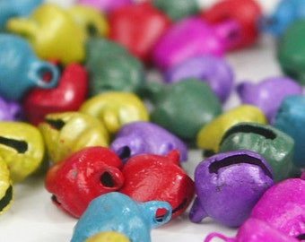 C-019 / Pastel Rainbow Gypsy Bells 12 mm. /  100 pcs (Come with box) / Mix color