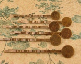 12 Antique Brass Hair/bobbi Pins - Bobby Pins -Two Inches Long