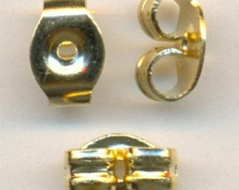 Super Nice Gold Plated Butterfly Ear Nuts - 6x5mm   x10