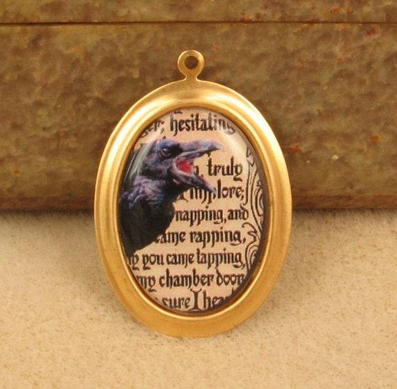 1 Edgar Allen Poe - Handmade Resin Pendant/Charm - 25/18mm