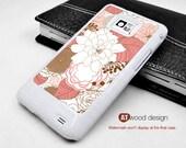 Samsung Galaxy S2 case I9100 Case Samsung Galaxy SII case unique Case red white illustrator flower graphic design
