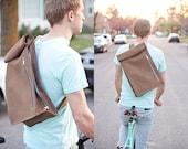 Nubuck Leather Biking Messenger Bag