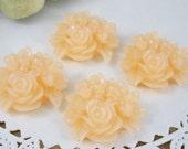 4 Pcs. 25mm Peach Flower Cluster Cabochon FL011-PCH