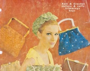 PDF Vintage Knitting and Crochet Pattern Book - Evening Bags, Beautiful Head Wear, Collars(bk 2)