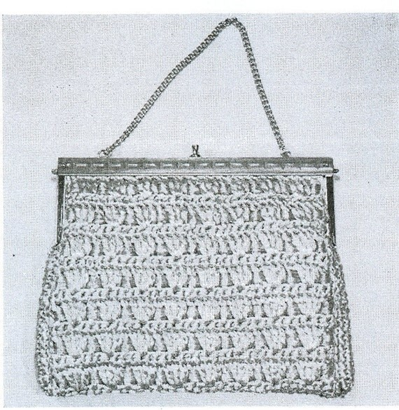 PDF Vintage Knitting and Crochet Pattern Book Evening Bags