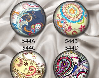 "Sophisticated and Pretty - Interchangeable Magnetic Design Inserts - FIT Clique and Magnabilities 1"" Pendant Jewelry Bases...544"