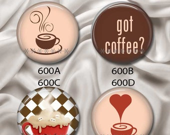 "Love To Drink Coffee - Interchangeable Magnetic Design Inserts - FIT Clique and Magnabilities 1"" Jewelry Bases...600"