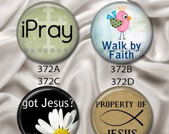 """Christian Sayings - Interchangeable Magnetic Design Inserts - FIT Clique and Magnabilities 1"""" Jewelry Bases...372"""