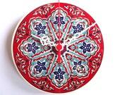 Wall Clock with Ceramic Turkish tile.. Anatolian and Ottoman patterns, 2012