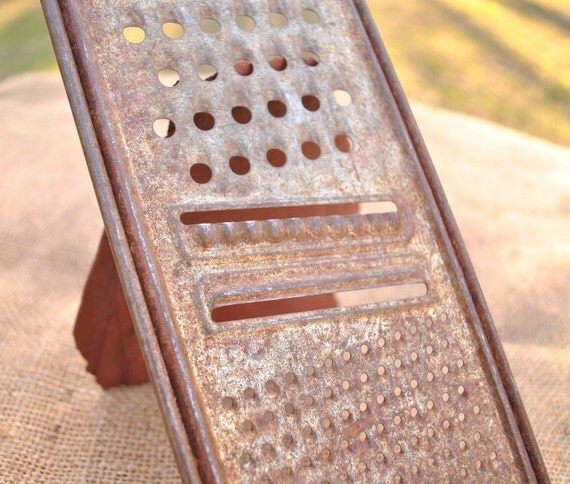 Vintage rustic kitchen grater rusty charm