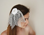 White Roses Hair Bridal Hair Alligator Clip with Silver Lace