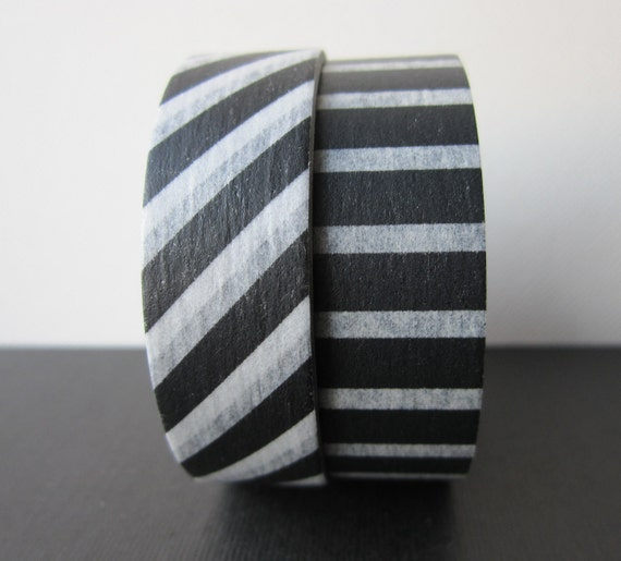 Washi tape 2P MT Kamoi Japanese for Decoration & Crafts  -Monochrome Stripe/Piano