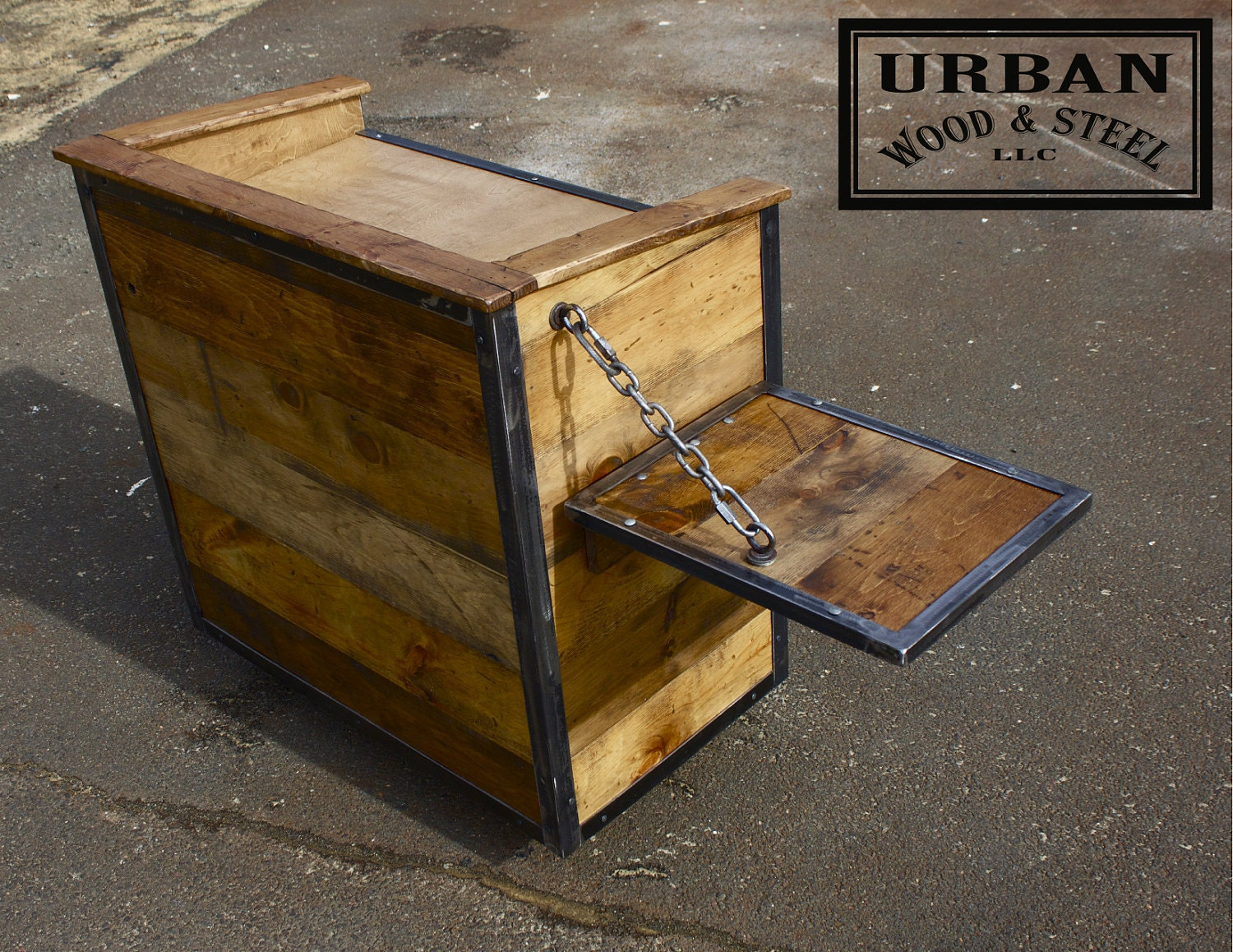 Hostess podium or point of sale cart by urbanwoodandsteel on etsy
