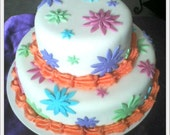 2 Tier Flower Melody Cake
