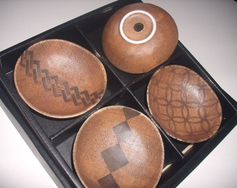 vintage Kotobuki pottery bowl set