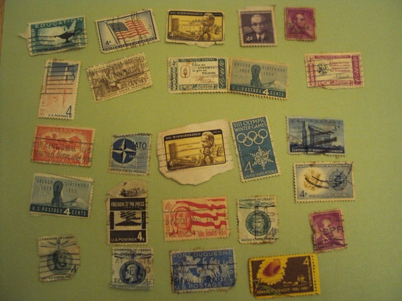 Fun old stamps for the new collector or great for a crafter, scrapbooker, cardmaker embellishment