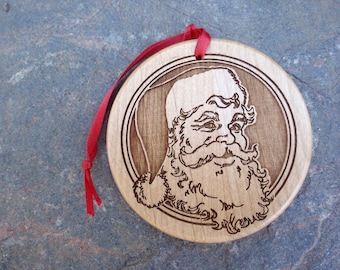 "Personalized Christmas Ornament - 3"" Diameter x 1/4"" Thick Alder"
