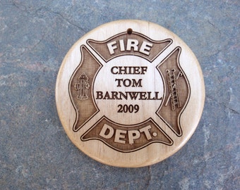 Personalized Ornaments for your Fire Fighters