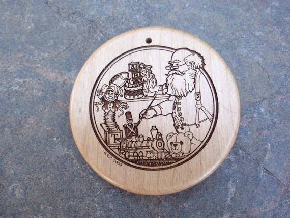 Santa's Workshop, Personalized Christmas Ornament