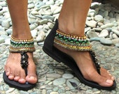 Bolywood Flat Sandals - Suede - Black