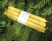 Hand Poured Pure Tasmanian Beeswax Dinner/Taper Candles Set of 6