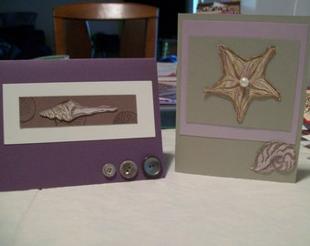 Set of 8 Seashell Cards