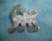Vintage Cat Pin - Sterling Silver Pin - Richard Lindsay Pin - Vintage Cat Brooch - Vintage Kitten Brooch - Vintage Silver Brooch