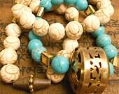 Kaajal vintage stretch bracelets style set of 3...(style 2)