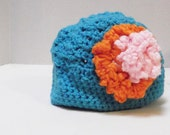 Flowered Cloche Hat Beanie Easter Hat Baby Infant