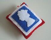 Jubilee British Stamp Queens Head Pin Cushion