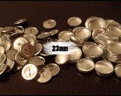 25x 23mm SHANK BACK Self Covered Button - Size 36