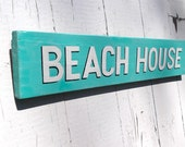 Summer BEACH HOUSE Shabby Chic Hand- Painted Wood Sign