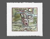 "Ireland Map 1748 - Cork City - Fine Paper Colour Print (8"" x 8"")"