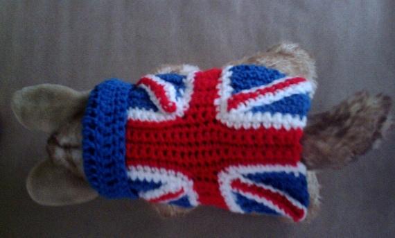 Crochet Pattern Union Jack : Alfa img - Showing > Union Jack Dog Sweater