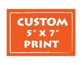 BUY 2 Get 1 Free Personalized Custom Art Print Children decor, Wedding Birthday Anniversary Gift ideas wall decor - 5X7