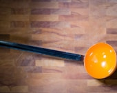 Orange Enamel Ladle